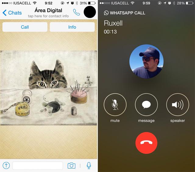 Las llamadas de voz de WhatsApp para iOS ya están disponibles para todos - Código Espagueti