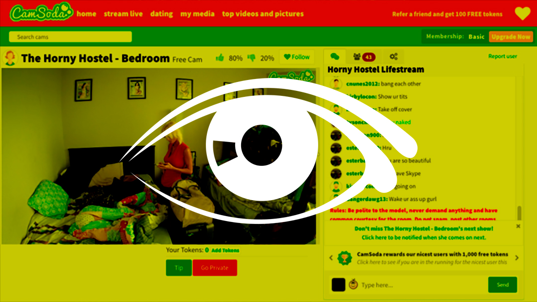 Esta página de internet quiere hacer de tu casa un Big Brother sexual
