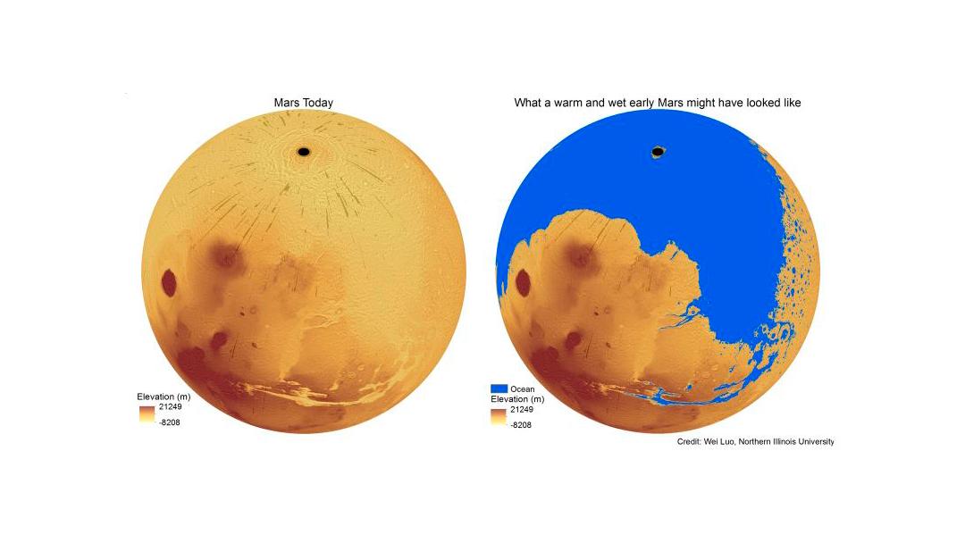 Un estudio revela que Marte tuvo tanta agua como la mitad de los océanos de la Tierra