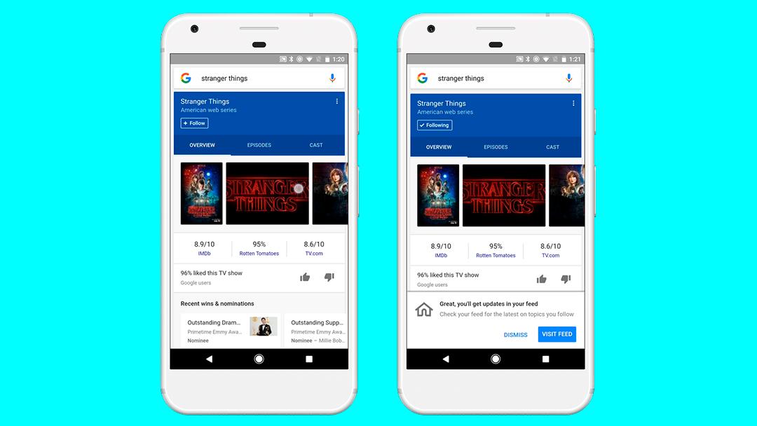Google actualiza su app con un feed para sus noticias