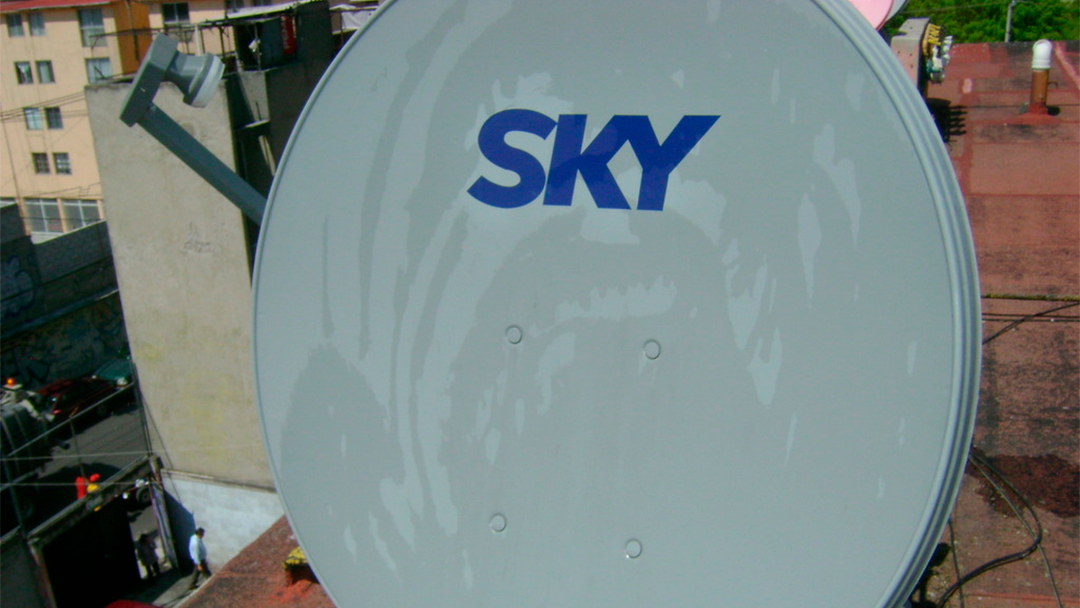 Una antena de Sky localziada en la CDMX