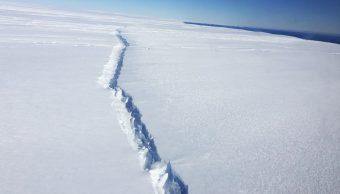 Grieta ubicada en el glaciar Pine Island