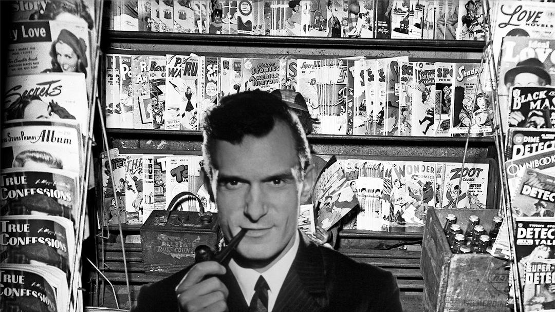 Hugh Hefner empezó su carrera dibujando cómics en la secundaria
