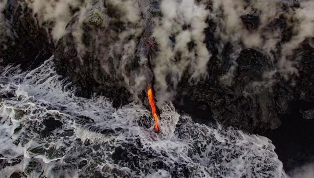 Drip. Third Place, Aerials. On the flanks of Kilauea Volcano, Hawai'i