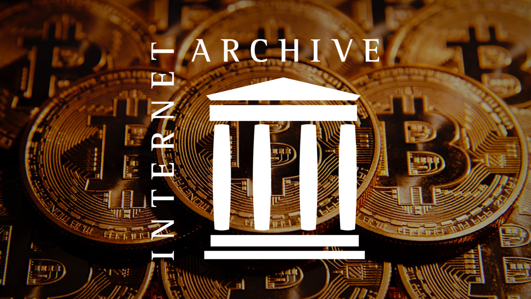 The Internet Archive recibe una donación de 1 millón de bitcoins