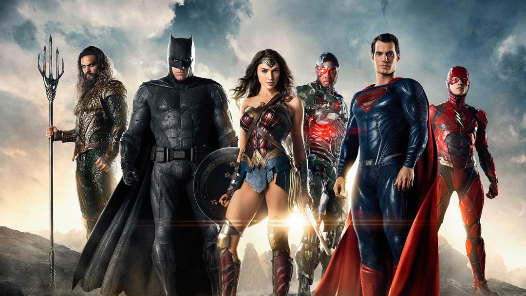 El equipo completo de la Liga de la Justicia