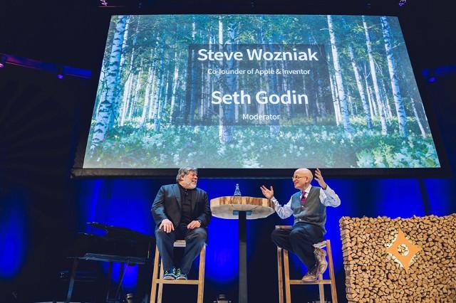 Steve Wozniak durante el Nordic Business Forum