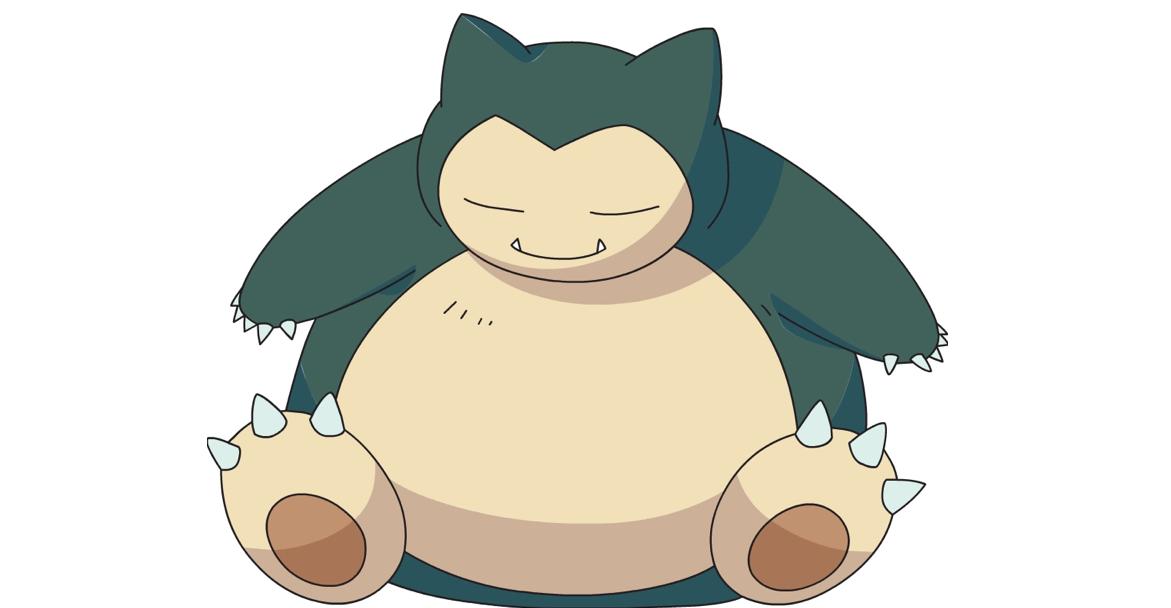 Snorlax, uno de los pokémon más populares