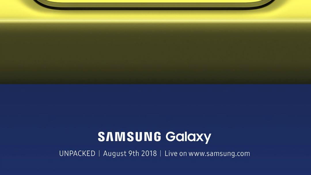Samsung anuncia la fecha de presentación del Galaxy Note 9