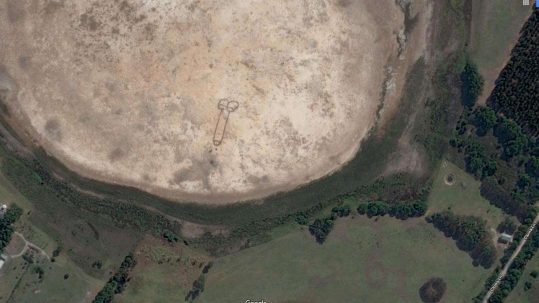 un pene se puede ver desde google Maps