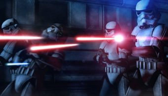 Una escena de un juego de Star Wars