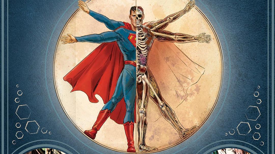 La anatomía de Superman, con todo y su esqueleto.