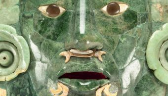 Una foto de la Máscara de Calakmul