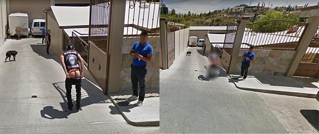 Un par de imágenes de Google Maps