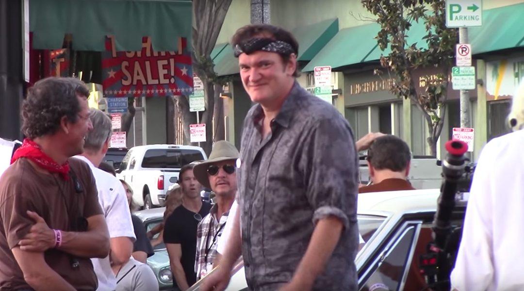 Un día de filmación de Quentin Tarantino