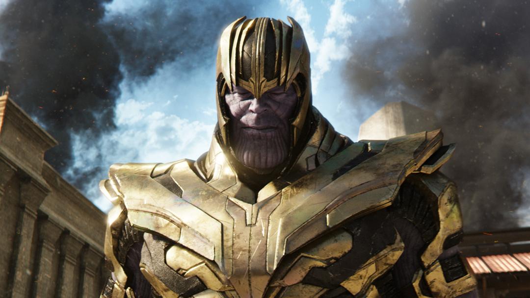 Thanos en una escena de Infinity War
