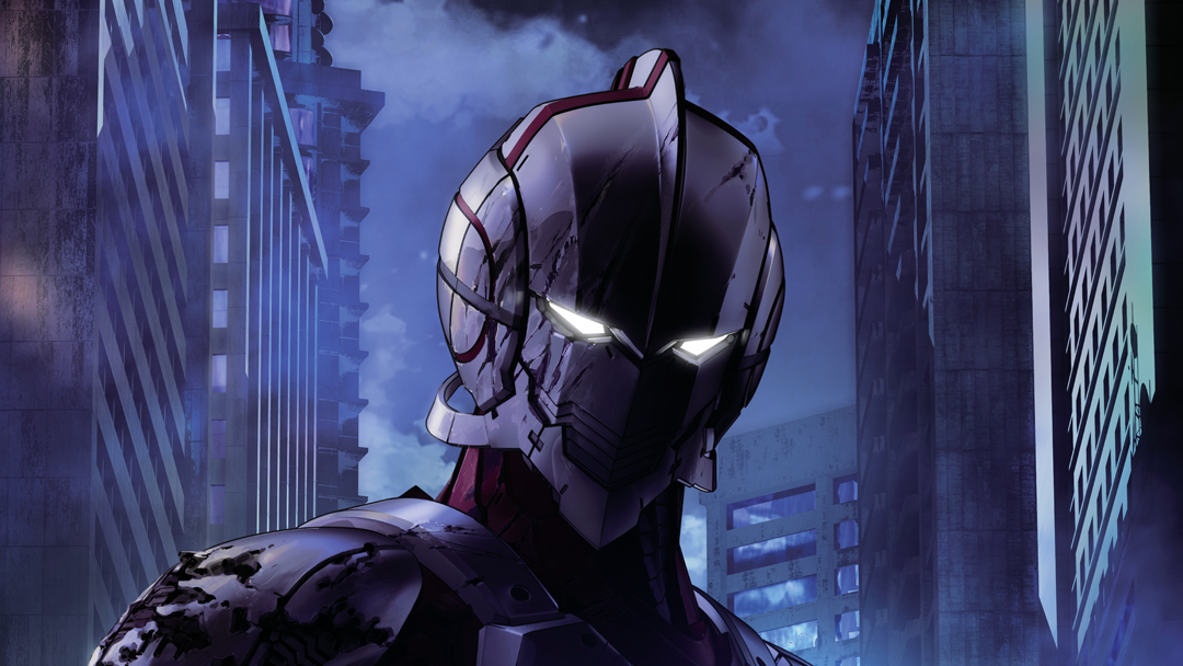 Un póster promocional de Ultraman, el anime