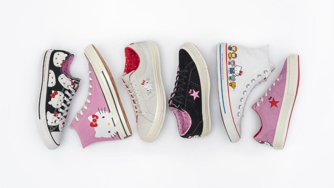 Hello Kitty llega a los tenis de Converse con diseños de ensueño