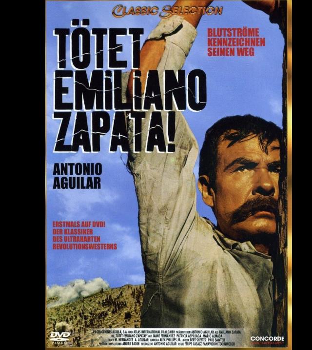 Portada de la versión alemana del DVD de Emiliano Zapata.