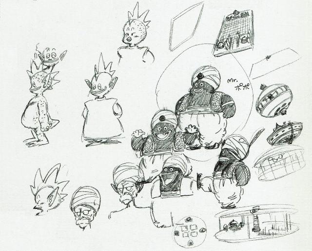 Boceto original de Mr Popo