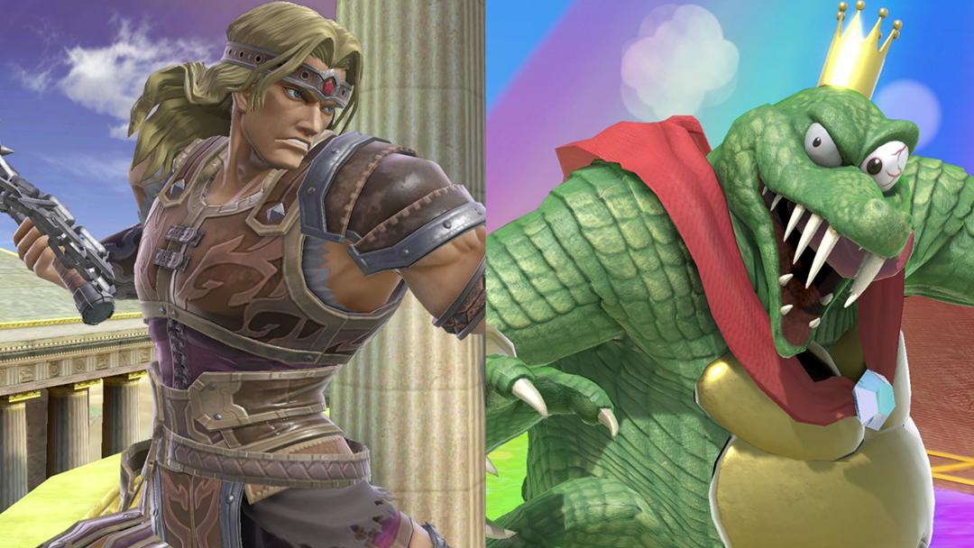Un par de momentos del juego Super Smash Bros