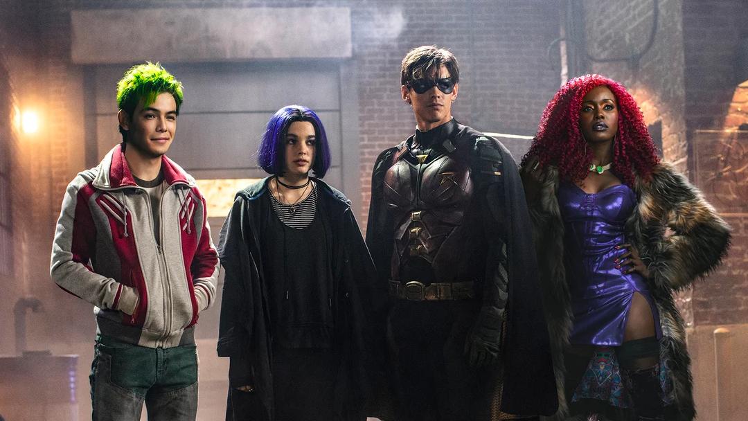 Los personajes de la serie Titans