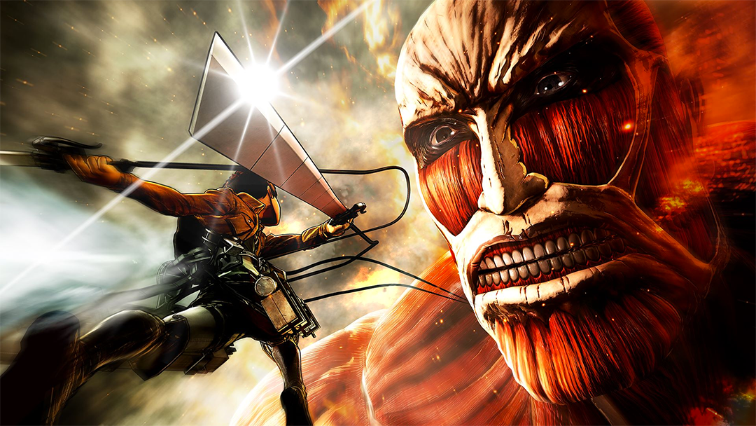 Imagen del videojuego de Attack on Titans