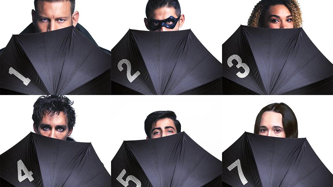 Imagen de la serie Umbrella Academy de Netflix