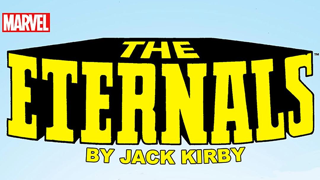 logo de Marvel The Eternals un cómic de Jack kirby