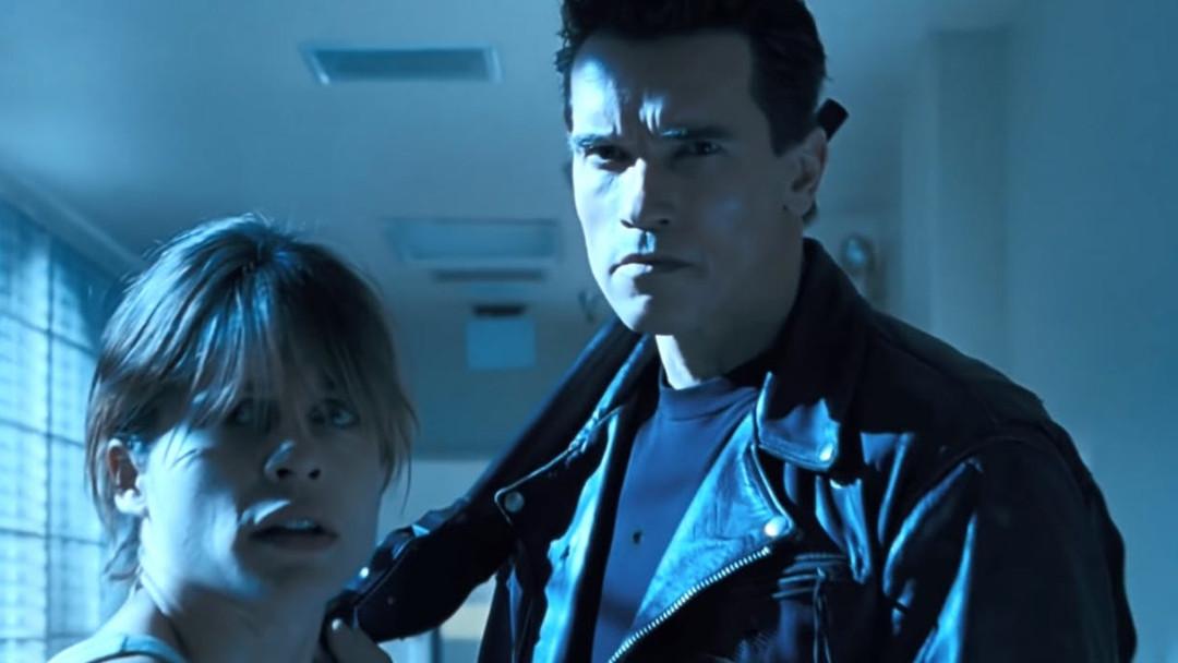 Imágen en Arnold Schwarzenegger y Linda Hamilton en Terminator 2