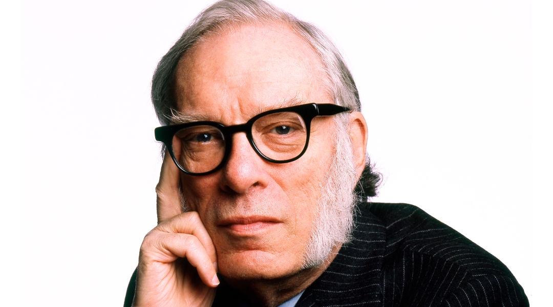 El divulgador científico isaac Asimov posando