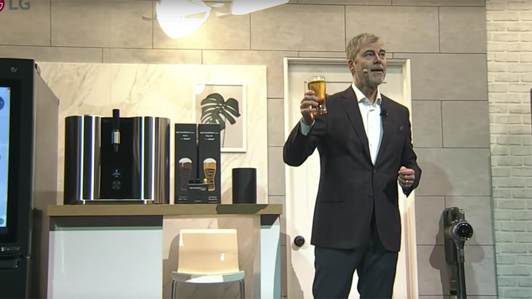 La presentación de la nueva máquina cervecera de LG