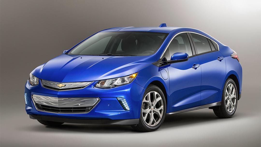 Un Chevy Volt, el auto eléctrico de General Motors