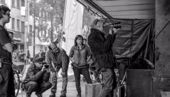 Alfonso Cuarón grabando Roma en la CDMX