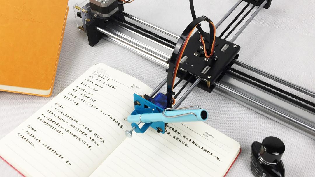 Robot escribe a mano