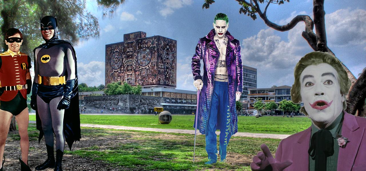 Personajes de Batman de visita en la UNAM