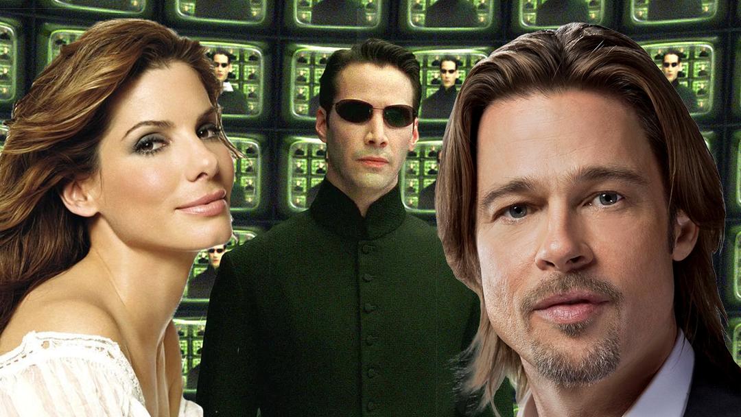 Matrix con Neo, Brad Pitt y Sandra Bullock