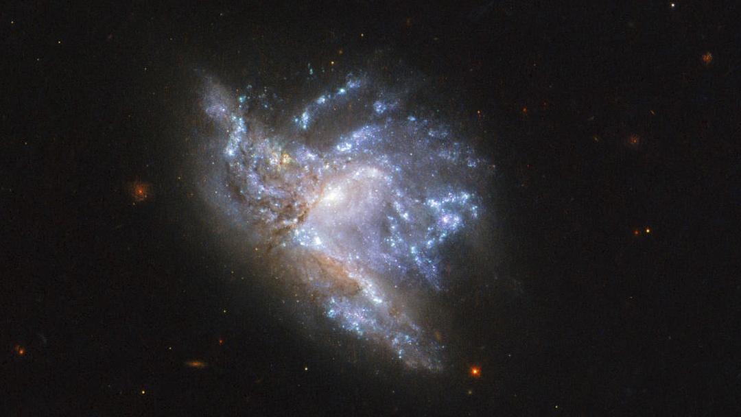 Telescopio Hubble, Galaxias, Colisión, Foto