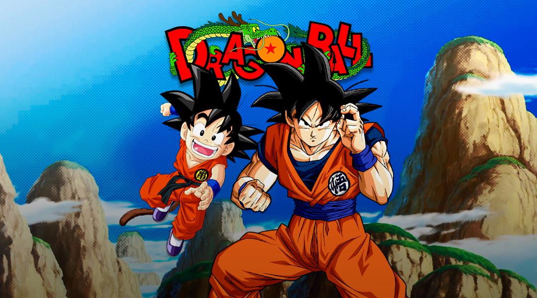 Dragon Ball Z con Goku y Goku joven