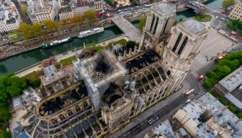 La catedral de Notre Dame después del incendio