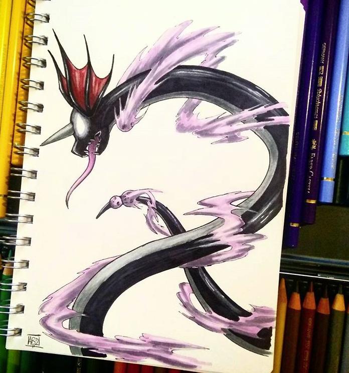 Pokémon, Fan Art, Charizard, Eeve
