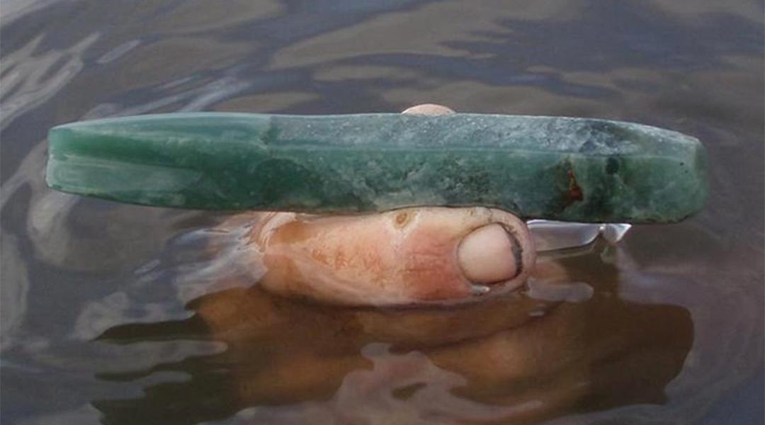Imagen de un instrumento de Jade usado por los mayas