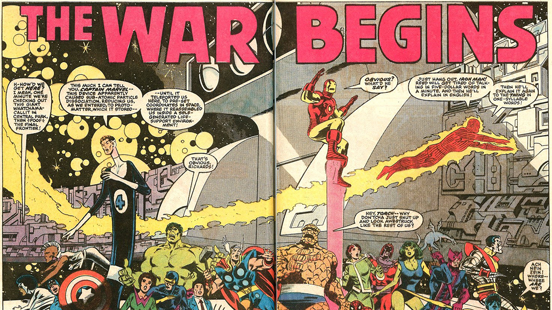 imagen de Secret Wars, cómic de Marvel