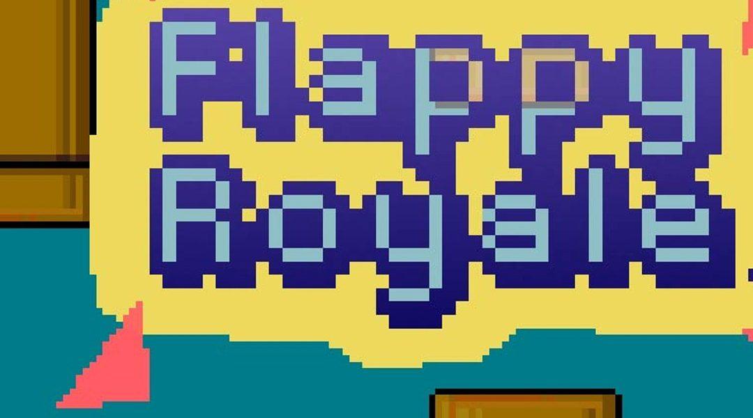 Logo de flappy royale con fondo azul