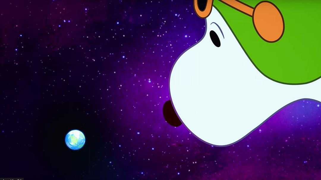 Snoopy, el perro de Peanuts, ve la Tierra