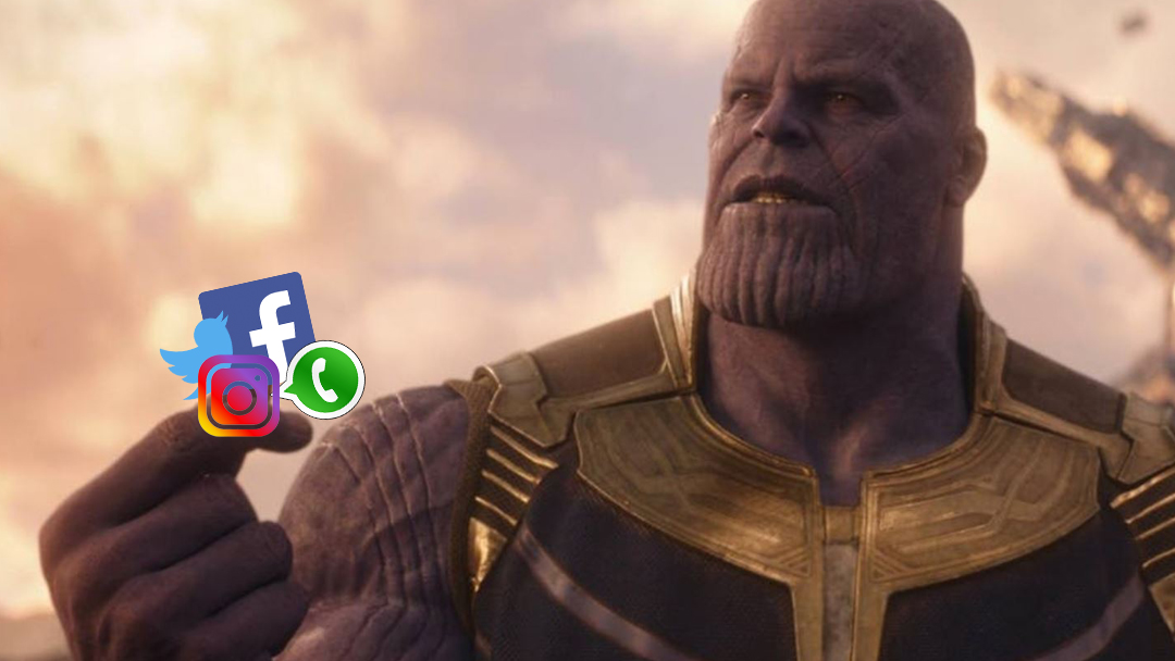Thanos, Facebook, Twitter, Instagram
