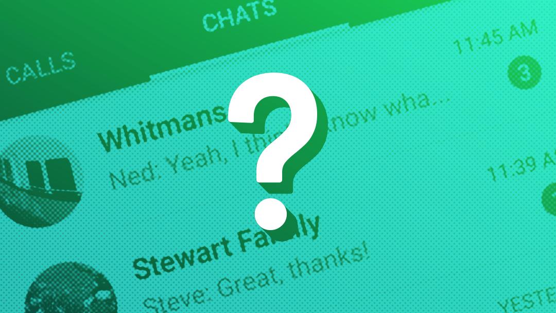 Los estados de WhatsApp con signo de interrogación