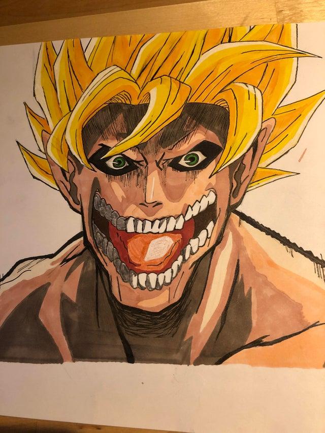 27/08/19 Attack On Titan, Shingeki No Kyojin, Goku, Fan Art