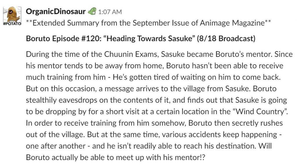 07/08/19 Boruto, Sasuke Uchiha, Gaara, Anime