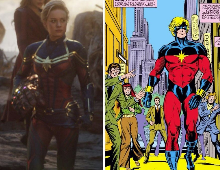30/08/19 Captain Marvel, Avengers Endgame, Mar-Vell, Traje